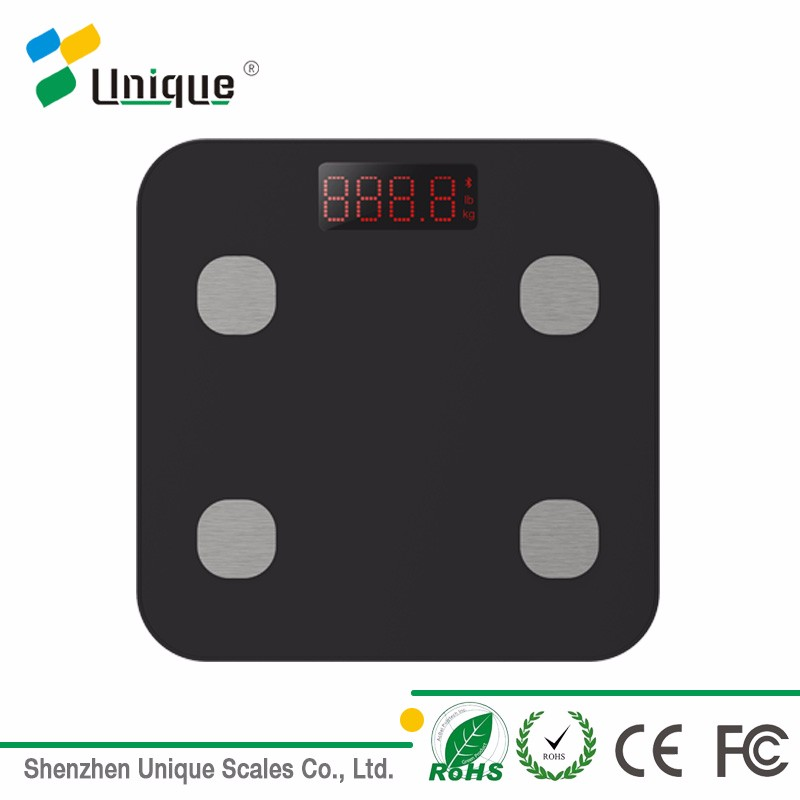 180kg/400lbs Light-Weight Plastic Platform Electrical Smart Digital Bathroom Bluetooth Weighing Body Scale
