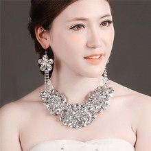 MYLOVE Statement necklace collar earring set crystal designs 2015 MLT012