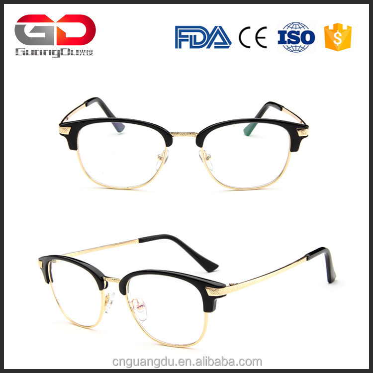 Metal half glasses frame Retro Reading Eyewear Frame Men Women Vintage Computer Myopia Eyeglasses Frame China Fractory goggles