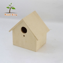 Creative Fashion Crafts Solid Color Poplar Board Sculpt Polishing Process Chinese Pigeons Wooden Bird House