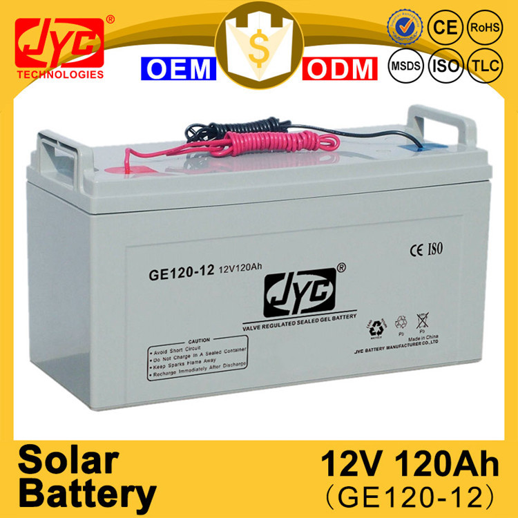 Spot goods sealed 12v 120ah solar long way rechargeable battery