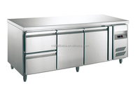 Vegetable cooler/used industrial workbenches with stainless steel table leg