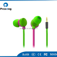 Colourful Flat Cable Earphone In Consumer