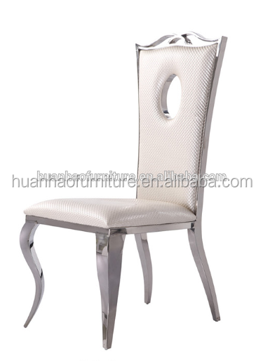 Modern popular white metal leather dining chair Y8501