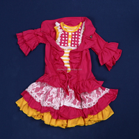 mjy-119 toddler baby party dress cotton baby dress little girls western wear