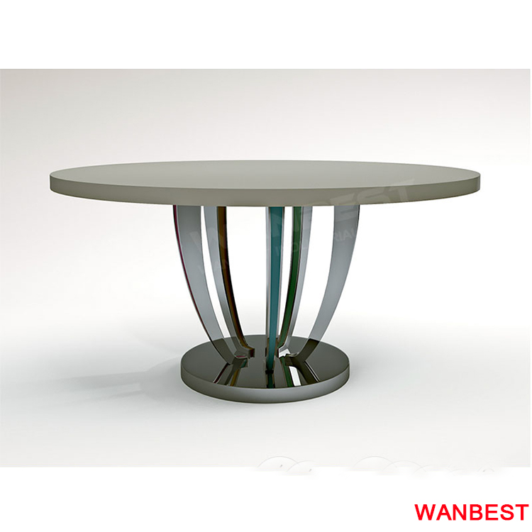 factory price round shape acrylic marble family design home furniture dining table