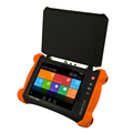 Newest 8 inch Retina touch screen, 2048*1536 resolution 4K H.264 H.265 multi function CCTV tester with Sunshade