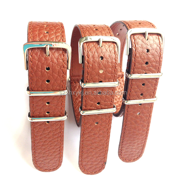 Classic design wide varieties leather western watch strap
