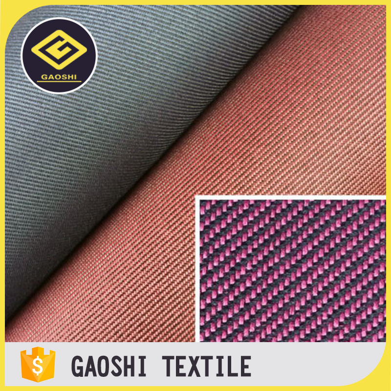 Latest Design 100% Polyester PVC Coated Waterproof Two Tone Twill Home Textile Fabric