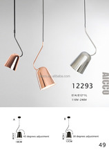 AICCO Modern Designer Copper Color Metal Head Moving Home Decorative Indoor Pendant Lighting 12293