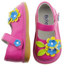 SQ-A624-GR wholesale kids leather baby shoes