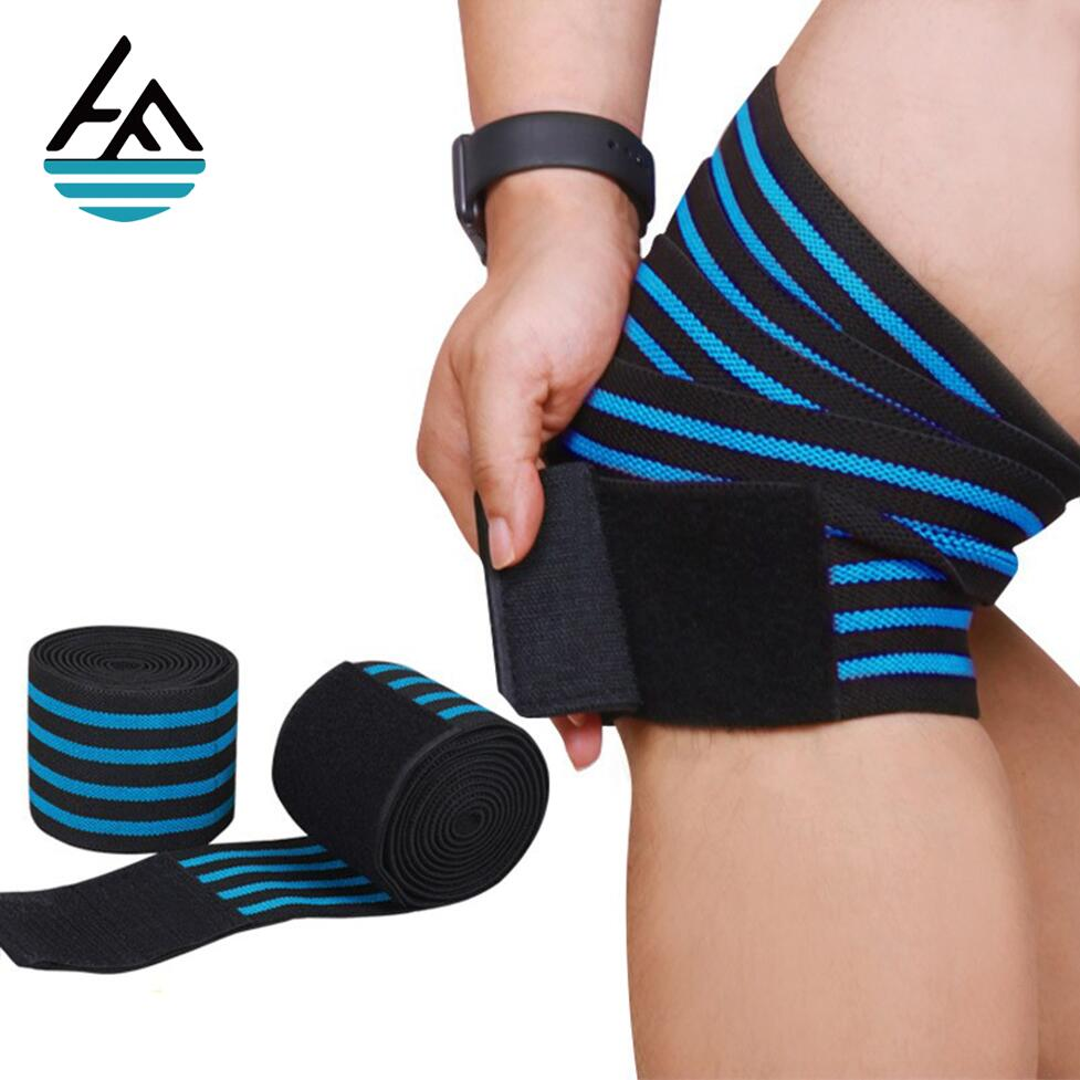 wholesale custom sports Elasticated weightlifting knee strap wraps
