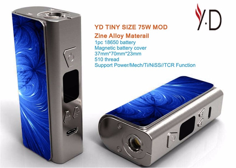 2017 trending products colorful portable mini 75w box mod vaping