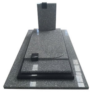 Chinese Shanxi black Granite Memorial Tombstone