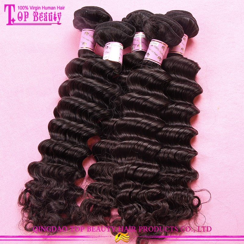 2015 Top selling 100% real mamaysian human hsir factory price brand name hair weave