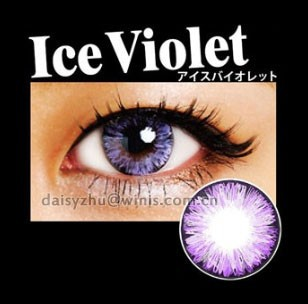 EOS Ice II violet 2 tone 14.5mm 6 months korea twinkle walmart contact lenses
