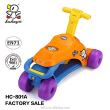 Newest Funny Sports Toy Cheap 2 in 1 Plastic Kids Scooter, Kids Ride on Car