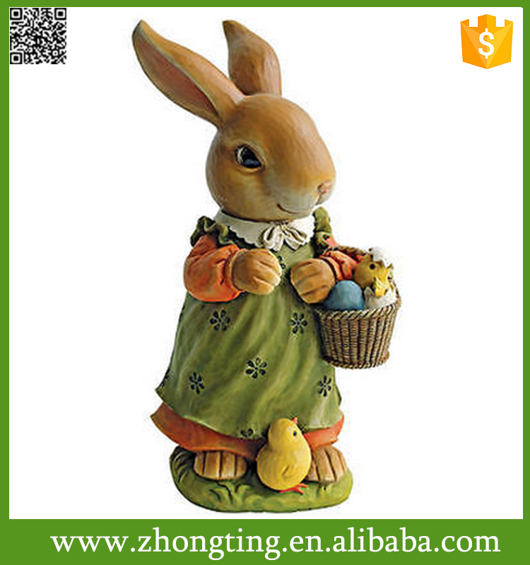 Creative Bunny Rabbit Mom Hare Statue Spring Garden rabbit sculpture