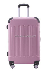 Abs hard case luggage with zipper wheel alumunium trolley systems