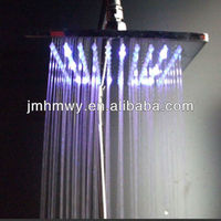 top sale square hydro powered multiple color auto jump led shower head