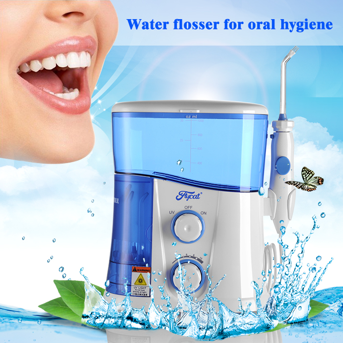 Teeth cleaning whitening kit UV sanitizer water flosser for sale