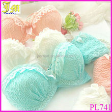 New Lovely Sweet Lace Gather Bra Sets Hot Sexy Girls Ruffle Push-Up Lingerie Underwear