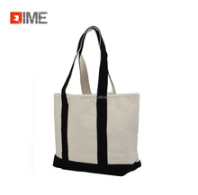 Nutural cotton Foldable Shopping fashion custom printed tote canvas bags