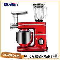 1200w food preparation mixer for dough /cream/juicer/sausage/noodles for home use