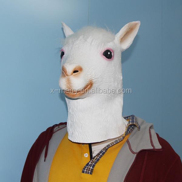 Animal Latex Goat Mask Deluxe Adult Popular Carton Goat Mask Latex Animal Costume Accessory Halloween Dress Up