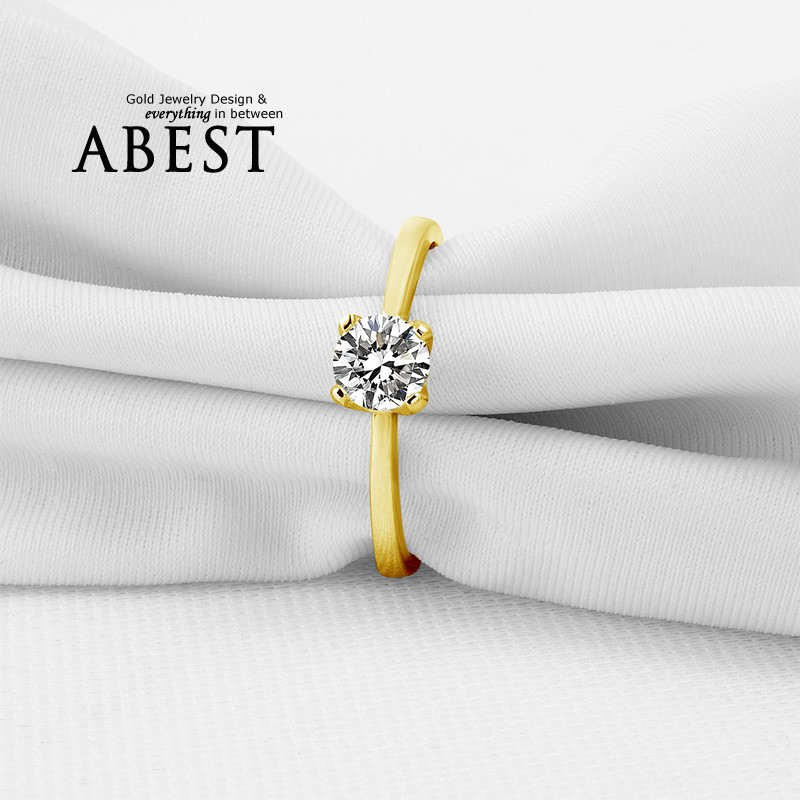 Hot Sell Lady Ring Real 10K Gold Yellow Solitaire Rings Jewelry Ring New Wedding Engagement Rings For Women Gift