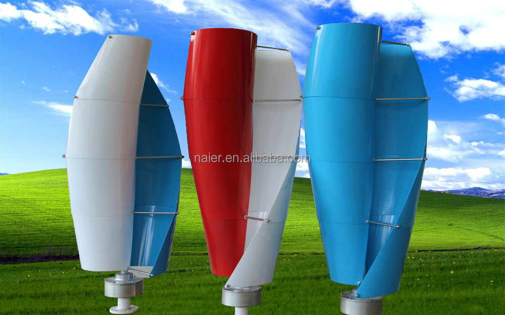 Top <strong>sale</strong> 100W spiral vertical axis wind turbine with lowest price
