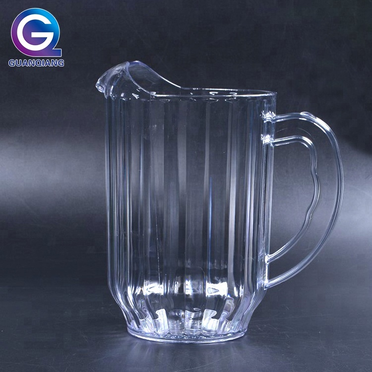 Customized logo clear small plastic water pitcher