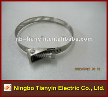 stainless steel quick restore hose clamp