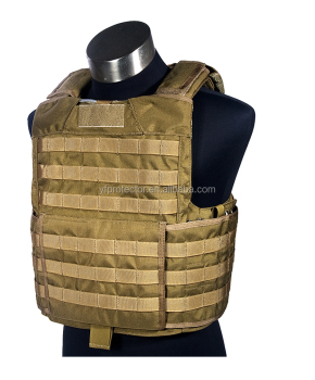 Airsoft tactical vest with balistic bullet proof plate