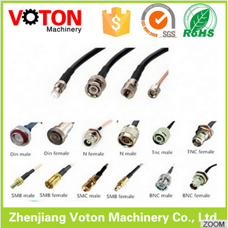 Customized length SMA female bulkhead to male/plug right angle RG178 coax cable mmcx connector cable assembly