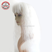 Cheap Synthetic Lace Front Very Long White Cosplay Wig