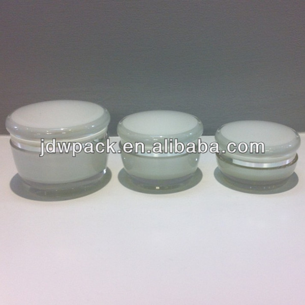 mushroom shape acrylic cosmetic jar empty cosmetic containers