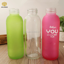 400ml Hot Stamping / Screen Printing Surface Handling Beverage Use Glass Water Bottle