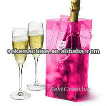 2014 New Style Pvc Clear ice Wine Bag