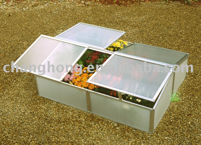 compact cold frame with UV protected panels