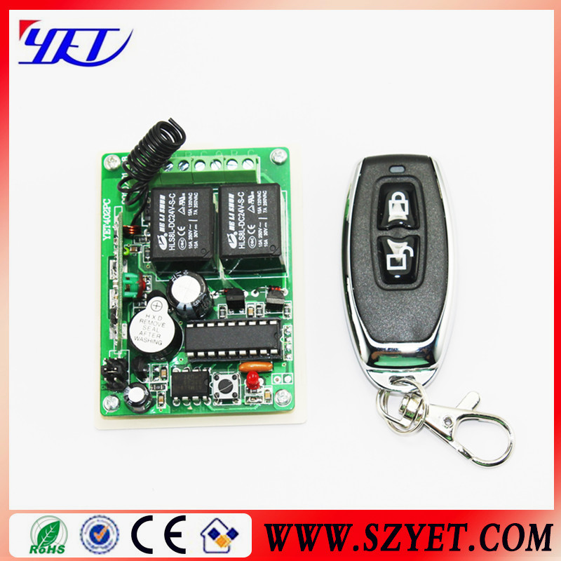High quality and reliable 2ch 12v wireless rf remote control receiver relay