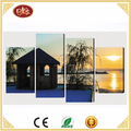 4 pieces print on canvas handmade beautiful scenery picture canvas wall art