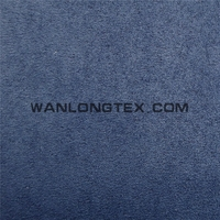 100% polyester plain dyed Suede leather fabric for shoes