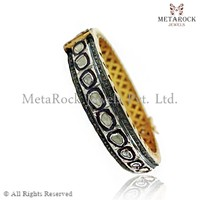 Wholesale 14k Gold Bangle Supplier Designer Bangle, Wholesale Rose Cut Bangle Celebrity Style Bangle, Diamond Bangle
