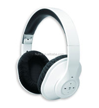 Best quality Flexible headband bluetooth headset with leather cushion earpad