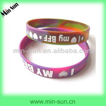 Colourful silicone rubber bracelet with copper clasp,wholesale latest bracelet