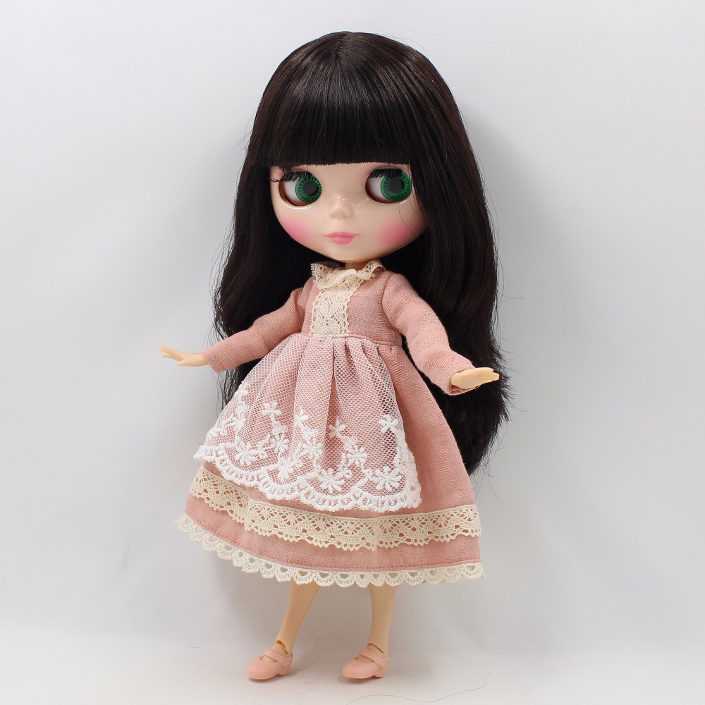 Neo Blythe Doll Lace Dress with Scarf 2
