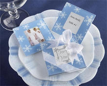 2017 new set of 2 wedding favor centerpieces guest keepsake christmas gifts snowflake glass coaster with photo frame