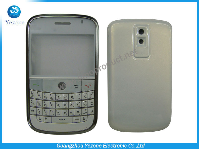 White Cover For BB 9000 Housing For Blackberry Bold 9000 Phone Parts Replacement
