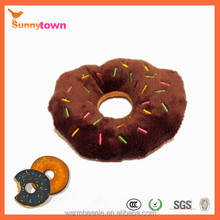 2014 new hot sale plush toys Donut type plush pet toy for dog